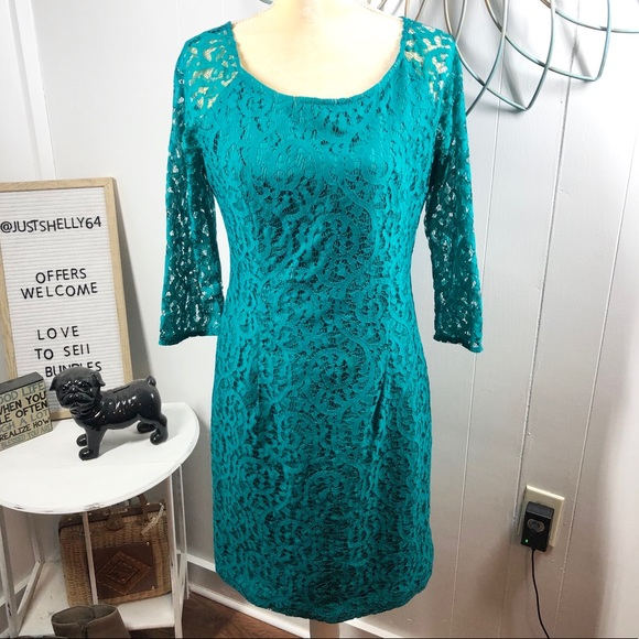 Leslie Fay Dresses & Skirts - Leslie Fay Lace Sheath Size 8